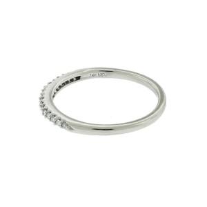 14k White Gold Thin 1.36mm Diamond Wedding Band Ring Approx.0.15ctw