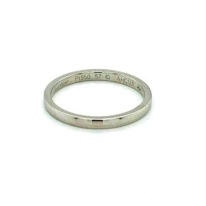 Cartier Platinum 2mm Wide Dome Wedding Band Ring