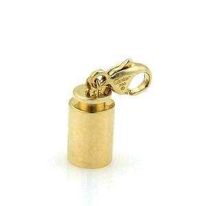 Cartier Mini Cylindrical Barrel 18k Yellow Gold Charm Pendant