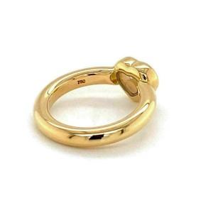 Chopard Happy Diamond 18k Yellow Gold One Diamond Heart Ring