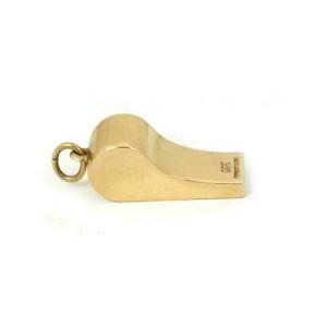 Tiffany & Co. Vintage 14k Yellow Gold Whistle Charm Pendant