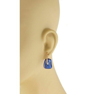 Mattioli Blue & Green Mother Of Pearl 18k Rose Gold Dangle Earrings