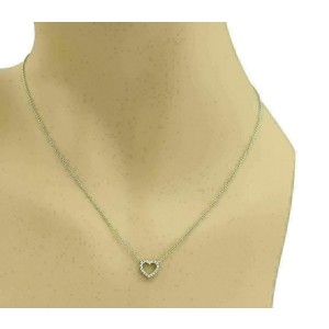 Tiffany & Co. Metro Diamond 18k White Gold Heart Pendant