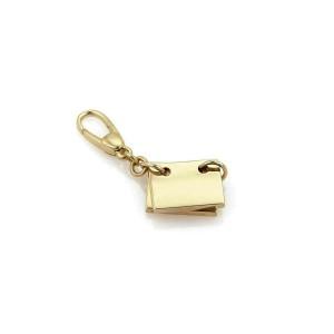 Bvlgari Signature 2 Page Binder 18k Yellow Gold Charm
