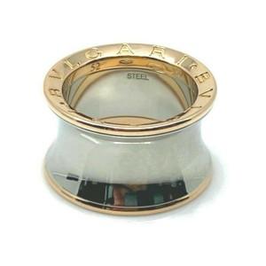 Bvlgari B.zero1 Anish Kapoor 18k Rose Gold & Steel Band Ring