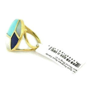 Ippolita Rock Candy Multi-Color Gems 18k Yellow Gold Round Ring Size 7