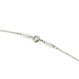 Tiffany & Co. Peretti Platinum Rock Crystal Tear Drop Pendant Necklace
