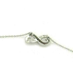 Tiffany & Co. Picasso Diamond Double Loving Heart 18k White Gold Pendant