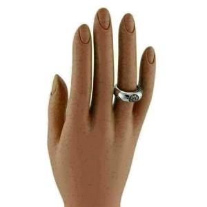 Koesia Champagne Diamond 18k White Gold Dome Band Ring