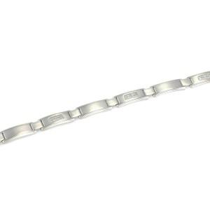 Tiffany & Co. Century Diamond 18k White Gold Bar Link Men's Bracelet