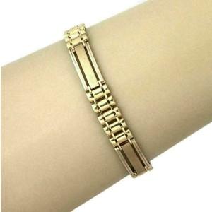 Long Bar Flex 14k Yellow Gold Link Bracelet