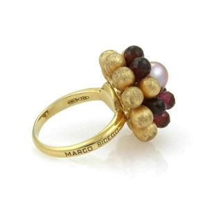 Marco Bicego Paradise Tourmaline & Pearl Cluster 18k Yellow Gold Ring