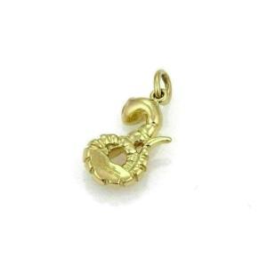 Tiffany & Co. Picasso Chinese Zodiac 18k Yellow Gold & Diamond Snake Charm