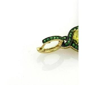 LeVian Citrine & Tszvorite 14k Yellow Gold Drop Dangle Earrings