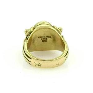 Kieselstein-Cord Blood stone Horse Intaglio 18k Yellow Gold Signet Ring