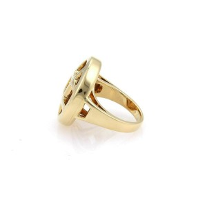 Cartier Pasha Citrine & Amethyst 18k Gold Round Ring Size 50