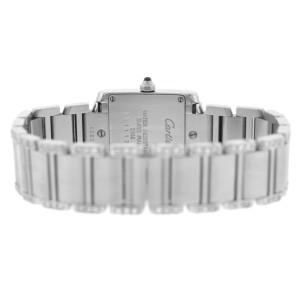 Cartier Tank Francaise 2384 Ladies Diamond Stainless Steel 20MM Quartz Watch