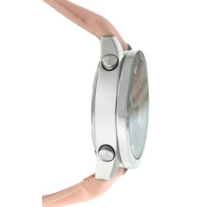 Jacob & Co. Five 5 Time Zone JCM-7 MOP Stainless Steel 40MM Watch Pink Strap