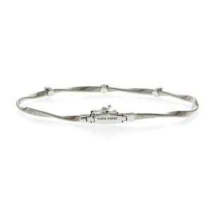 Marco Bicego 18K White Gold & Diamond Marrakech Collection Stackable Bracelet