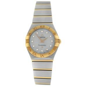 Omega Constellation 123.20.24.60.55.001 Diamond 18K Rose Gold 24MM Quartz Watch