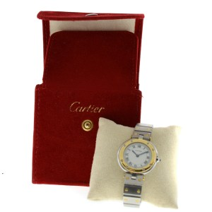 Cartier Santos Ronde Ladies 18K Yellow Gold Steel Quartz 27MM Watch
