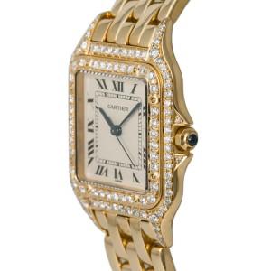 Cartier Panthere de Cartier 10600M Unisex Quartz Watch Diamond Bezel 28mm