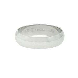 Cartier Platinum Men's Wedding Band Size 56/7.75