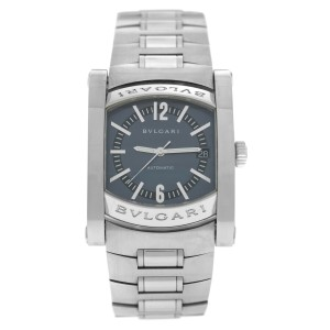 Bvlgari Assioma AA44S Mens Stainless Steel Date 34MM Automatic Watch