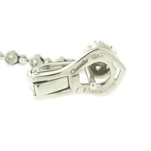 Chantecler 18k White Gold Diamond Pave Long Drop Earrings