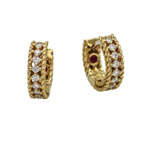 Roberto Coin Symphony Princess Diamond Hoop Earrings