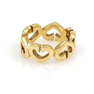 Cartier C Hearts of Cartier Diamond Ring in 18K Yellow Gold