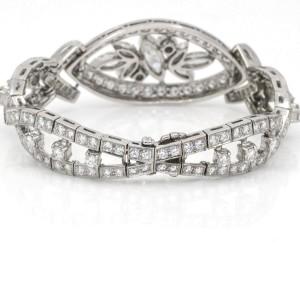 Women's Diamond Mid-Century Statement Bracelet in Platinum ( 10.00 ct tw )
