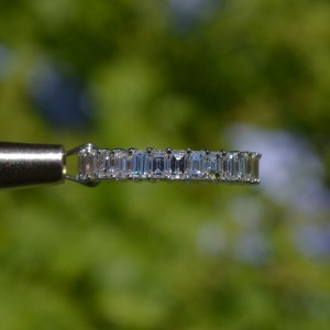 18k White Gold Emerald Cut Diamond Eternity Band Ring
