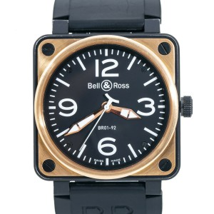 Bell & Ross Military Spec BR01-92-S 18k Rose Gold Automatic Watch 46MM