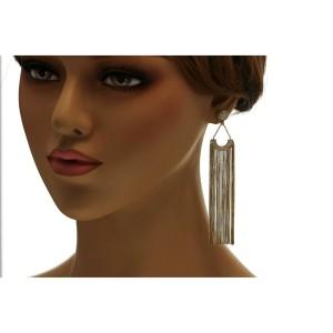 "1.75 CT Diamonds in 18K Yellow Gold 4"" Height Waterfalls Drop Earrings"