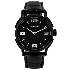 Tourneau TNY Roventa TNY350708012 Unisex PVD Steel 35MM Quartz Watch