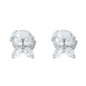 Tiffany & Co. Victoria Diamond Earrings in Platinum