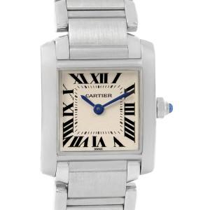 Cartier Tank Francaise Silver Dial Steel Quartz Ladies Watch W51008Q3