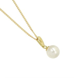 18k yellow gold Akoya Pearl Necklace