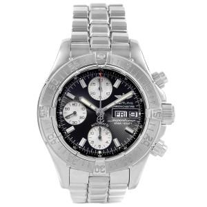 Breitling Aeromarine Superocean Chronograph Steel Mens Watch A13340 Box