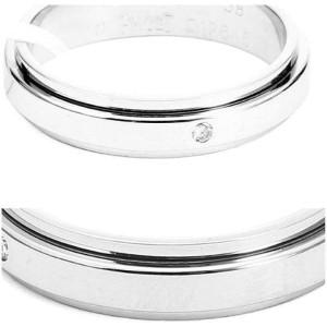 Piaget G34PJ9 18K White Gold Diamond Ring Size 8.25