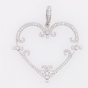 Rhonda Faber Green PE4361-WG/WD 18k White Gold Diamond Pendant