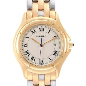 Cartier Cougar Steel Midsize 18K Yellow Gold Unisex Watch 887904C