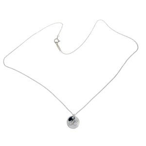 Tiffany & Co. 925 Sterling Silver Alphabet Letter K Necklace