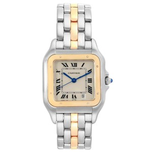 Cartier Panthere Steel 18K Yellow Gold Unisex Watch W25028B5