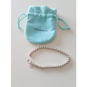 Tiffany & Co. 925 Sterling Silver Venetian Box Link Bracelet