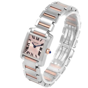 Cartier Tank Francaise Steel Rose Gold 160th Anniversary Watch W51036Q4