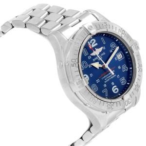 Breitling Superocean Steelfish Blue Dial Mens Watch A17360