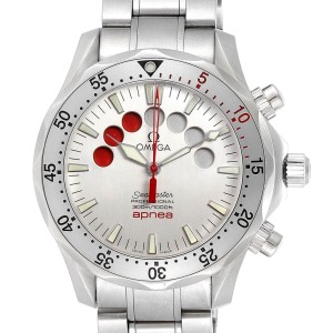 Omega Seamaster Apnea Jacques Mayol Silver Dial Watch 2595.30.00