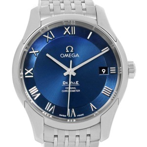 Omega DeVille Co-Axial 41mm Blue Dial Watch 431.10.41.21.03.001 Unworn